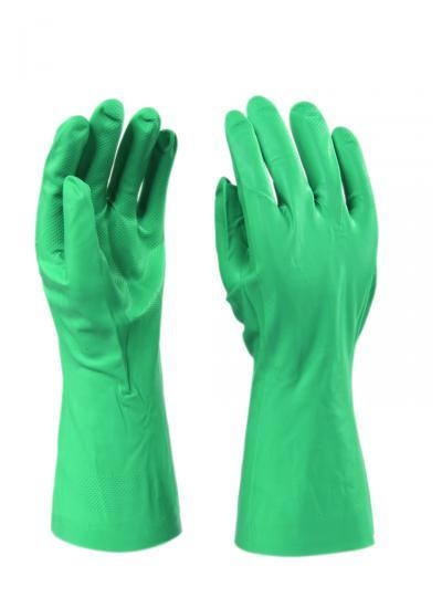 Nitril kesztyű, zöld, 9-es