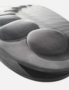 WC ülőke MDF 3D. fémzsanéros. Kövek
