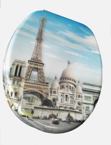 WC ülőke MDF 3D. fémzsanéros. Párizs