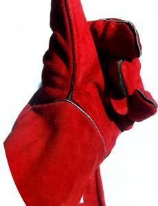 Szikra és lángálló kesztyű WELDER B RED